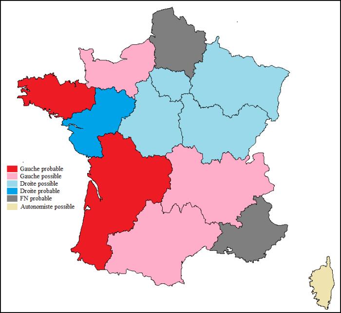 Régionales 2015 pronostics post-13 nov